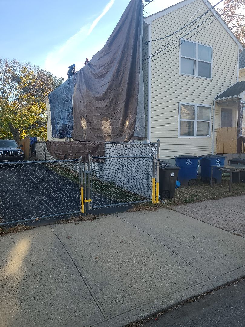 New Haven, CT - Gaf Royal Sovereign 3 tab roof being done for solar panels to get installed!
