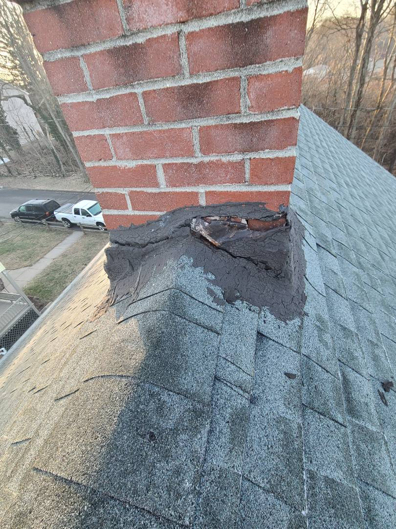 Middletown, CT - New chimney flashing. Call VNanfito roofing and siding today for a free estimate on any of your home remodeling needs