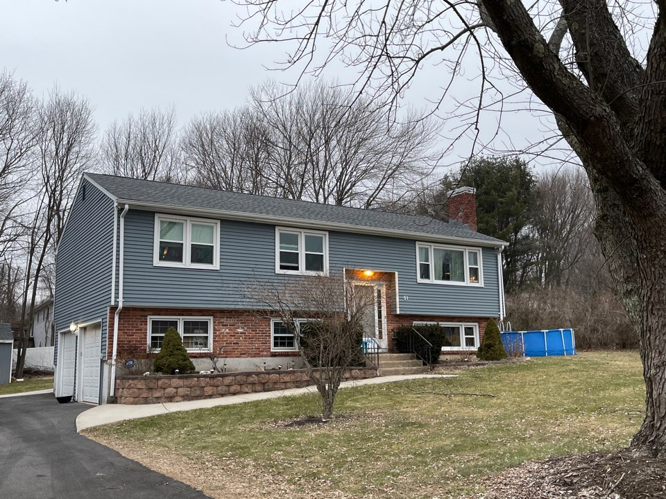 Bristol, CT - Another quality roofing project completed. GAF TIMBERLINE HDZ SHINGLES. PEWTER GRAY COLOR