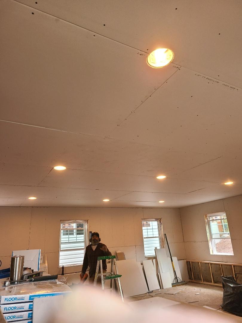 Meriden, CT - We do sheetrock taping and painting. Call VNanfito roofing and siding today for a free estimate on any of your home remodeling needs