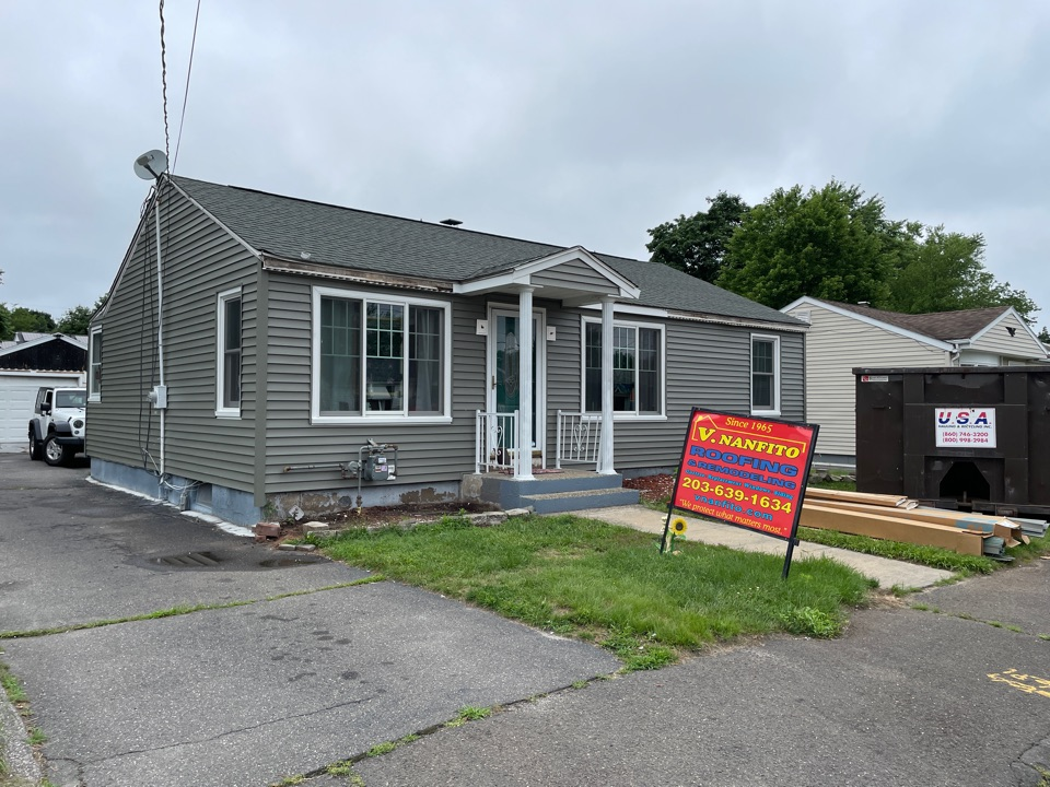 Waterbury, CT - New siding on a project in Waterbury