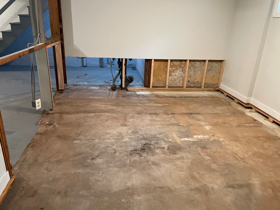 West Hartford, CT - New basement walls and flooring after water damage