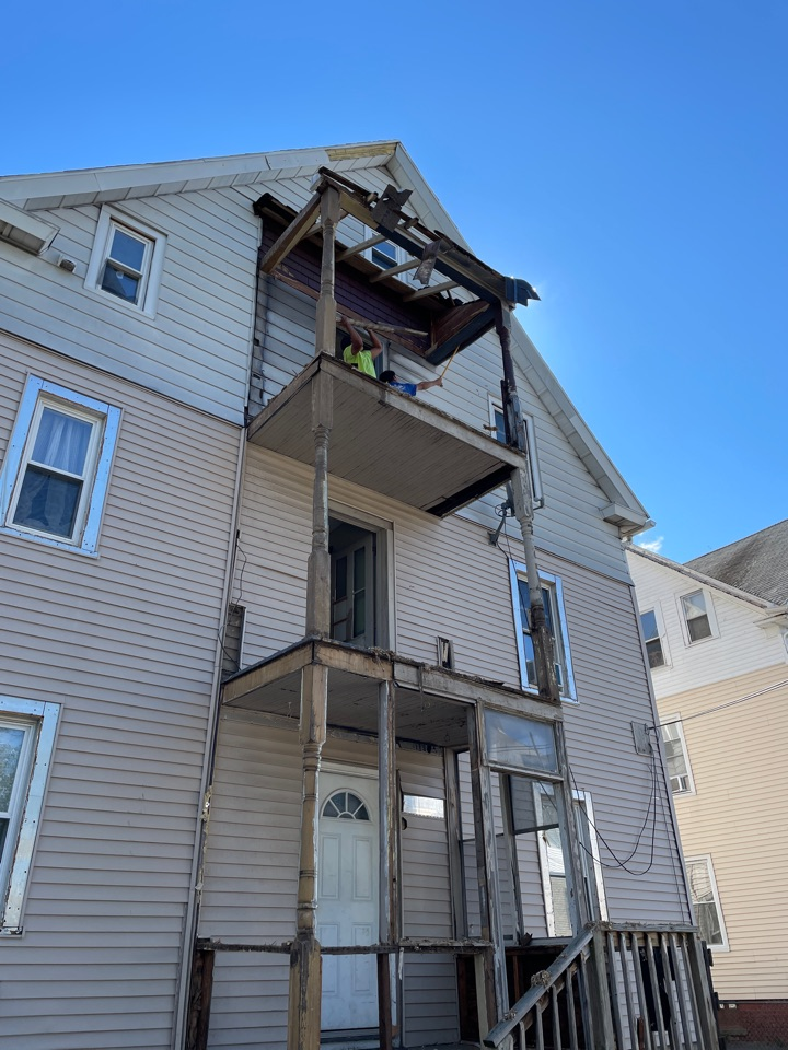 New Britain, CT - Removing an old rotted porch