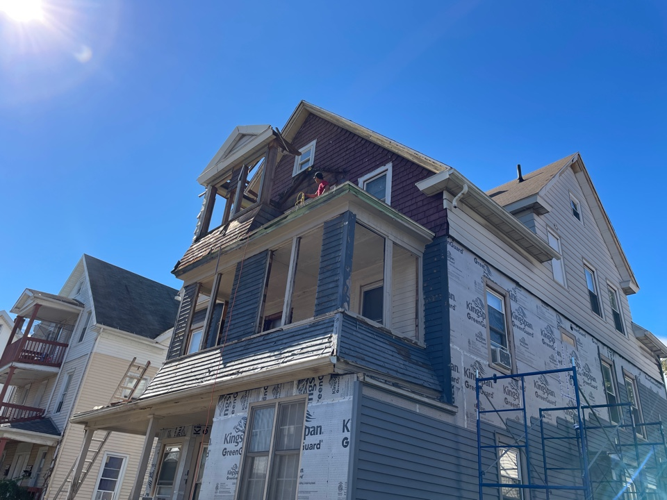 New Britain, CT - Removing old porches on a project in New Britain