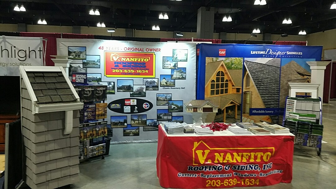 Hartford, CT - Getting ready for the home show at the Hartford Convention Center this week end