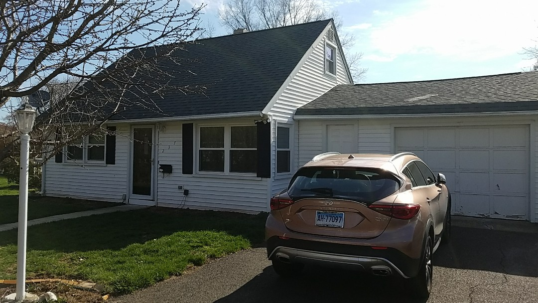 Meriden, CT - A  contract for new white 0.32ga gutters for a homeowner in Meriden