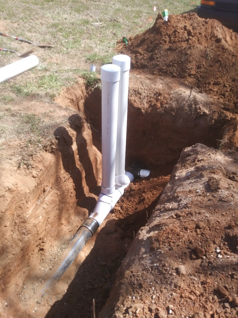 Replace sewer main drain line with cleanings for city main