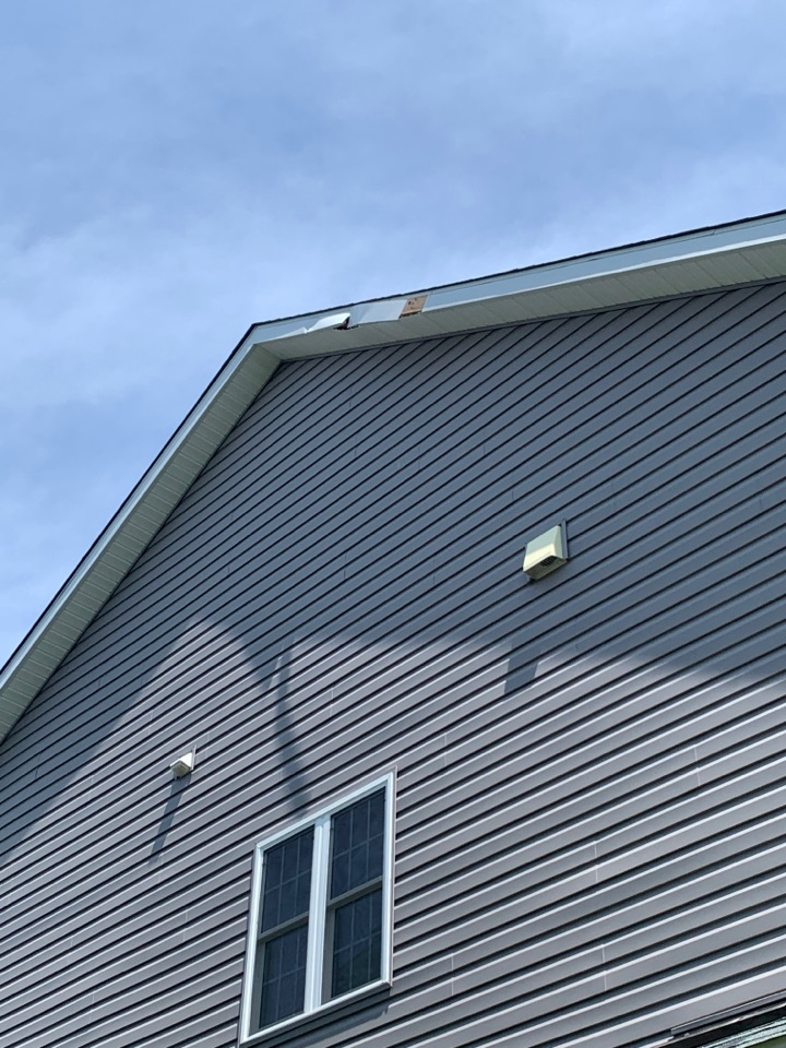 Severn, MD - Customer reported wind damage to the trim on the rakes of his home.  Providing estimate for repair: