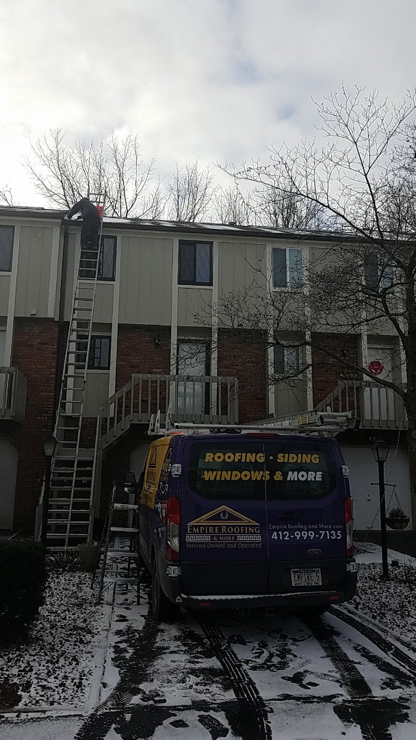 Cranberry Township, PA - Cleaning gutters, replacing some siding, and replacing wood around chimney.