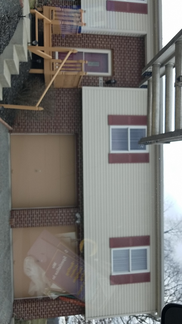 Gibsonia, PA - Measuring for new garage roof.