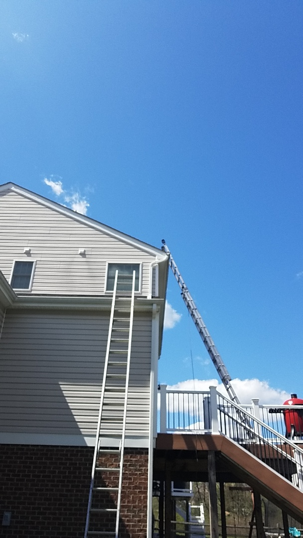 Cranberry Township, PA - Installing a new downspout.