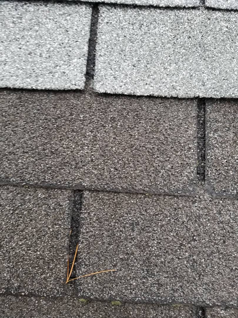 Gibsonia, PA - Visited property to investigate roof image shows old and new shingles...recommended roof replacment
