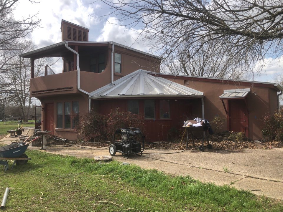 Martindale, TX - Here's another foundation repair project we are starting today! We're going to install 16 hot-dip galvanized steel piers to stabilize our customer's house to end their foundation damage.