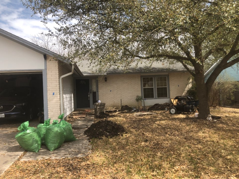Converse, TX - We're starting our next foundation repair project! We'll  be installing 13 steel piers around most of this home's perimeter that is settling. Unfortunately, we're replacing a failed pier system from another company. We see it more than we'd like, but your local foundation repair experts will get the job done right!
