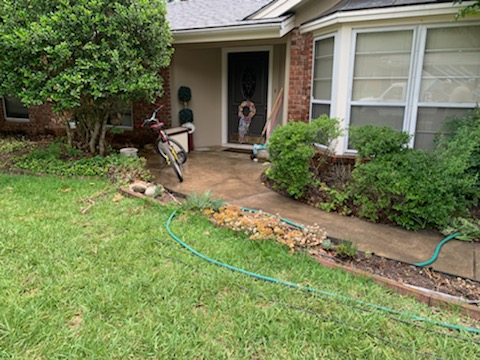 San Antonio, TX - We needed to do some adjustments for this foundation repair project. We had to lift the house an additional 2 inches and install extra piers inside the house. We covered her furniture with tarp to prevent he home from getting too dirty with dirt and concrete. Happy to help another FSS customer!