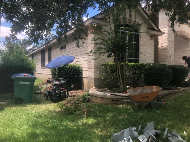 San Antonio, TX - Starting a new foundation repair project with a 13 steel piers installation along the front of the house. The homeowners noticed cracks in the ceiling and the front of their house felt like it was sloping. We'll stabilize and lift the house to end this foundation's settlement.
