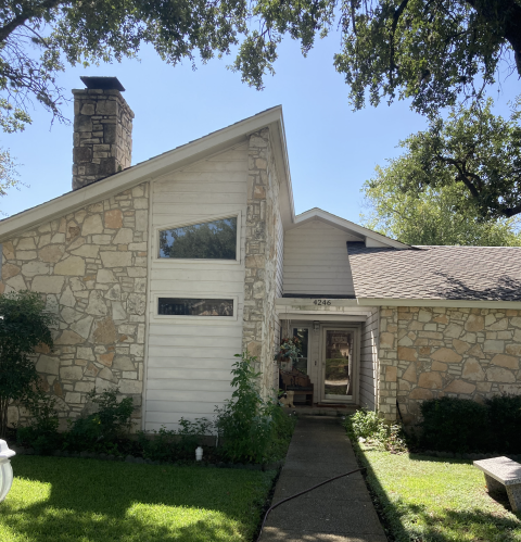 San Antonio, TX - Beginning a new foundation repair project for this concrete slab foundation. They're a new customer for us, but they've had previous foundation repair work done. He wanted us to address additional settlement in the center of his house that he began noticing this year. We'll install 4 steel piers inside the house to stabilize another section of their house.