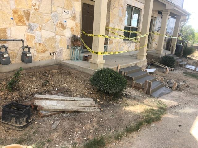 Austin, TX - Completed the foundation repair at building #86. We installed  steel piers and completed the stabilization and lift of this unit. This investment will prevent foundation settlement for a lifetime. We'll begin next week working on a different until.