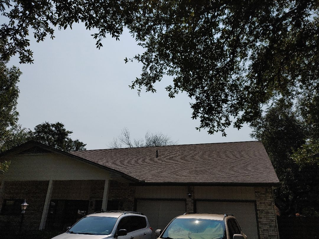 Leander, TX - Roof replacement for wind and hail damage. Paid for by insurance claim estimate.