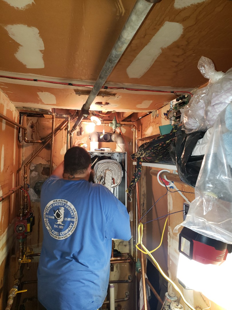Centereach, NY - Another happy Danisi customer installing a tankless combi high efficiency boiler