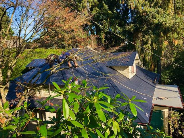 Portland, OR - Our sheet metal crew just finished installing this beautiful metal roof on this home in SW Portland.