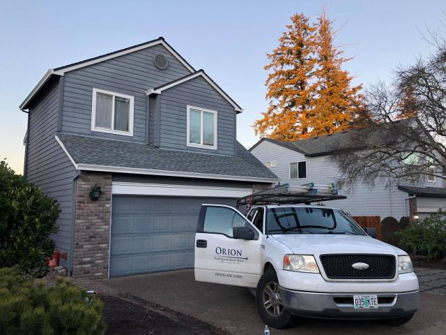 Portland, OR - Orion Roofing just finished installing this Timberline HDZ roof in Slate.