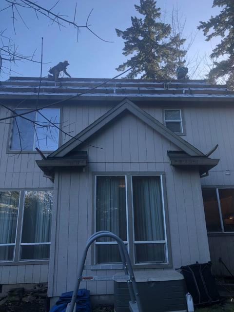 Beaverton, OR - Starting the re-roof process on this home in Aloha. We will be installing GAF's Timberline HDZ shingle which is America's #1 shingle. We will also be installing their snow country ridge vent since there is a vaulted ceiling.
