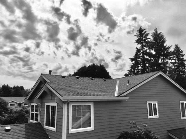 Tigard, OR - Orion Roofing and Sheet Metal just completed an install with GAF TImerline shingles in Tigard. Now we are on to 2 more houses in the neighborhood.