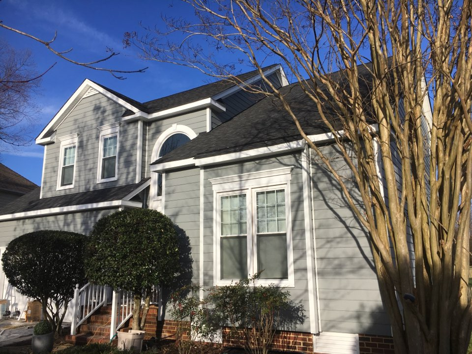 Glen Allen, VA - This new James Hardie color called Gray Slate looks incredible.