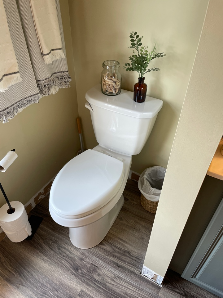 Macungie, PA - Installed a beautifully elegant Gerber Viper toilet in one of our valued customers bathrooms!