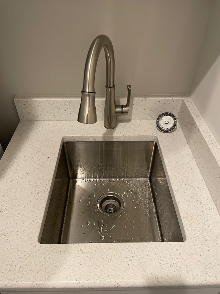 Bethlehem, PA - Hooked up a laundry room sink and faucet for our valued customer!