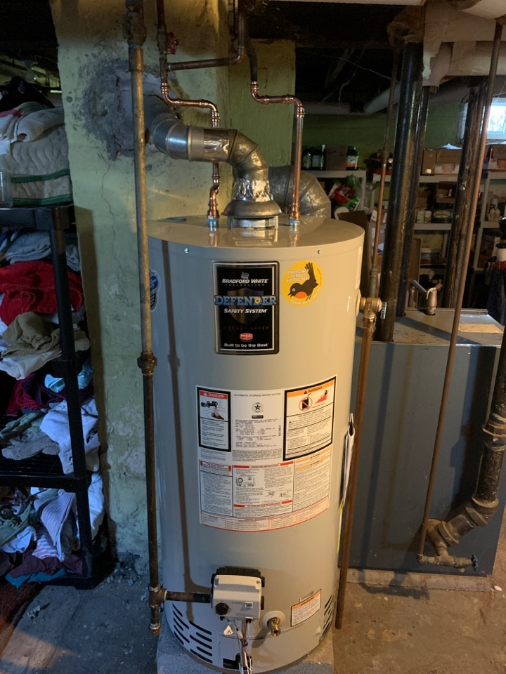Coplay, PA - Installed new 40 gallon atmospheric water heater.
