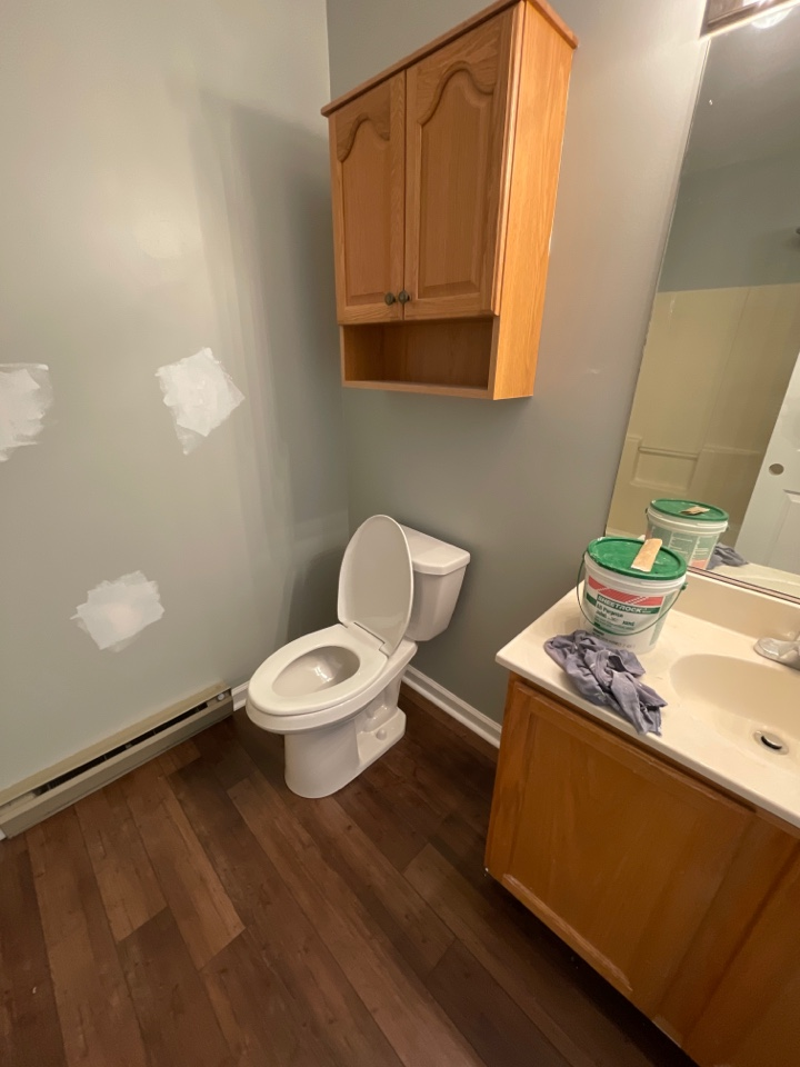Allentown, PA - We helped our valued customer with their renovations with installing new bathroom sink faucets and pop-up assemblies in 2 bathrooms, new shower heads installed, and two sleek Gerber Viper comfort height toilets to make the bathrooms pop with new life!