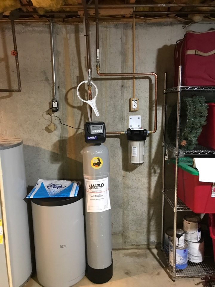 Allentown, PA - Installed new 30k grain Marlo water softener with carbon filter.