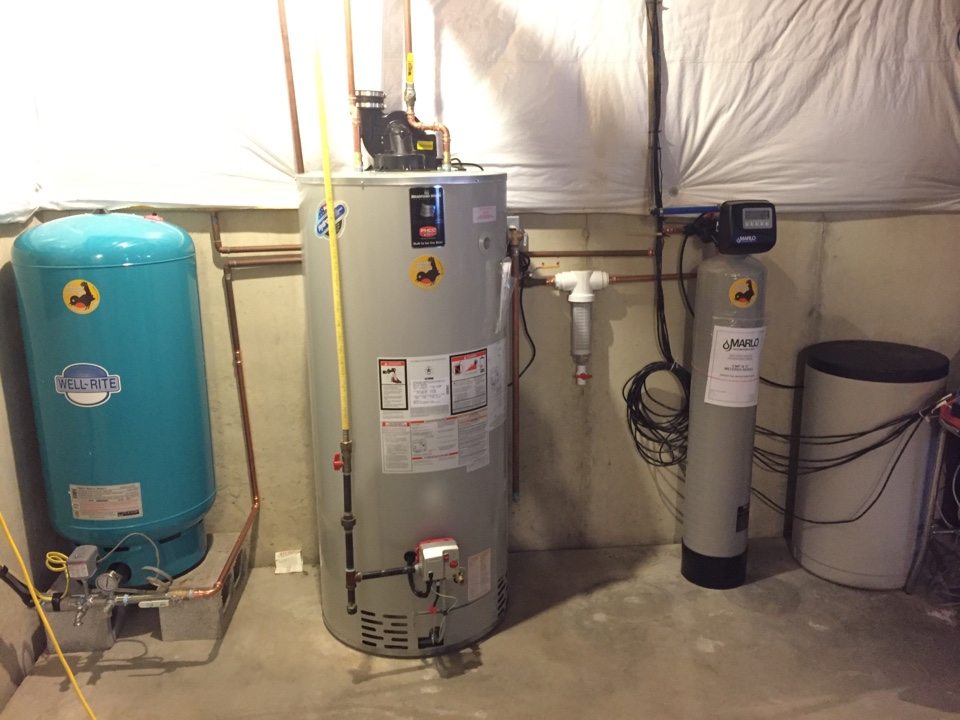 Allentown, PA - Installed water heater, water softener and filter.