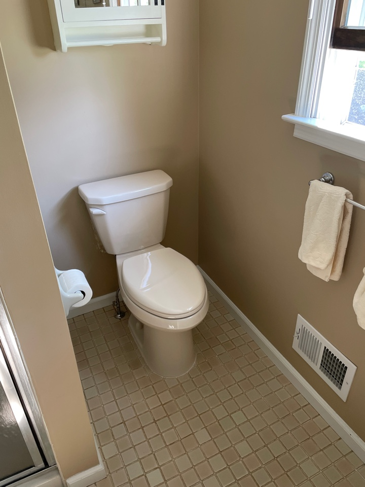 Bethlehem, PA - Installed a sleek Gerber Viper Bone colored toilet for one of our valued customers!