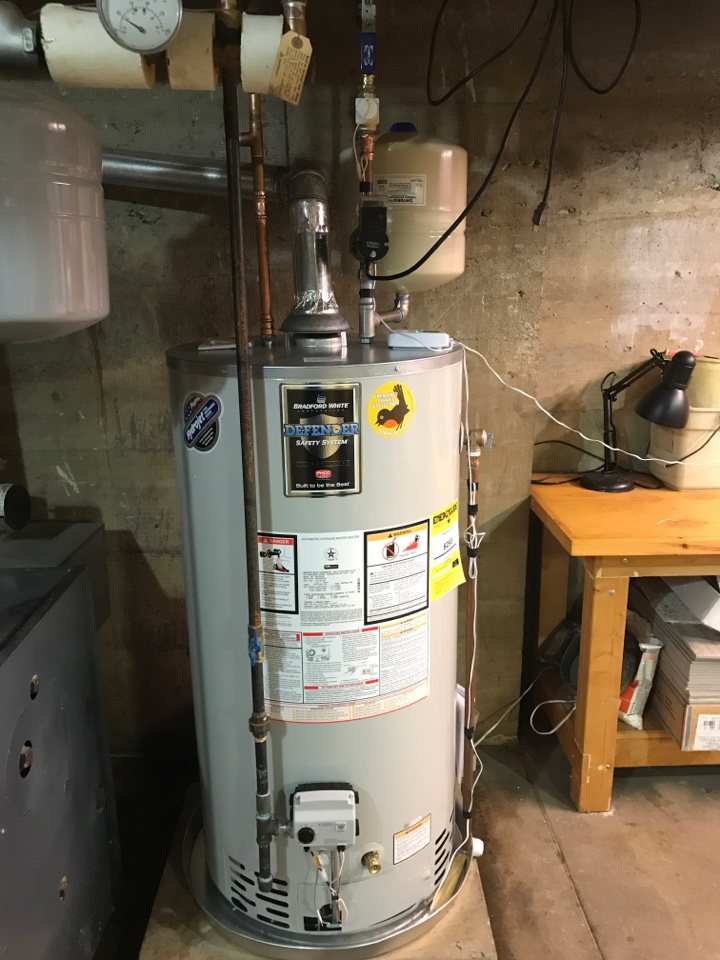 Allentown, PA - Installed new 50 gal. Atmospheric water heater with automatic shut off valve and circulator.