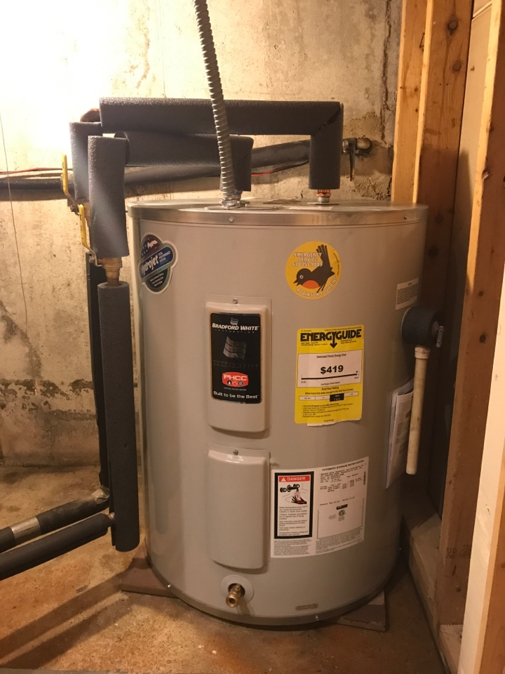 Macungie, PA - Installed new 50 gallon low boy water heater