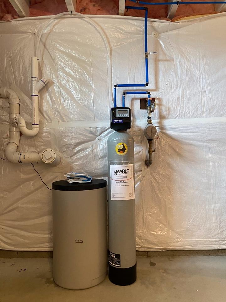 Breinigsville, PA - Installed new Marlo 30 k grain unit water softener.