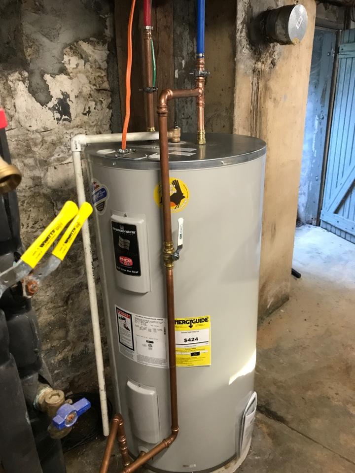 Breinigsville, PA - Installed new 50 gal water heater