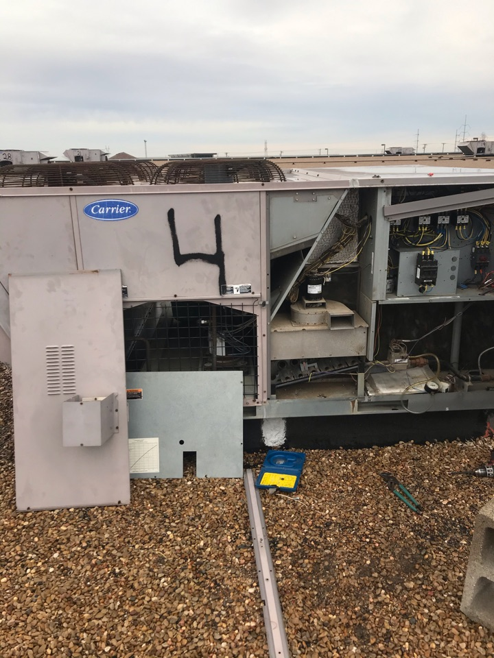 Irving, TX - Working on a carrier system for a business in Irving