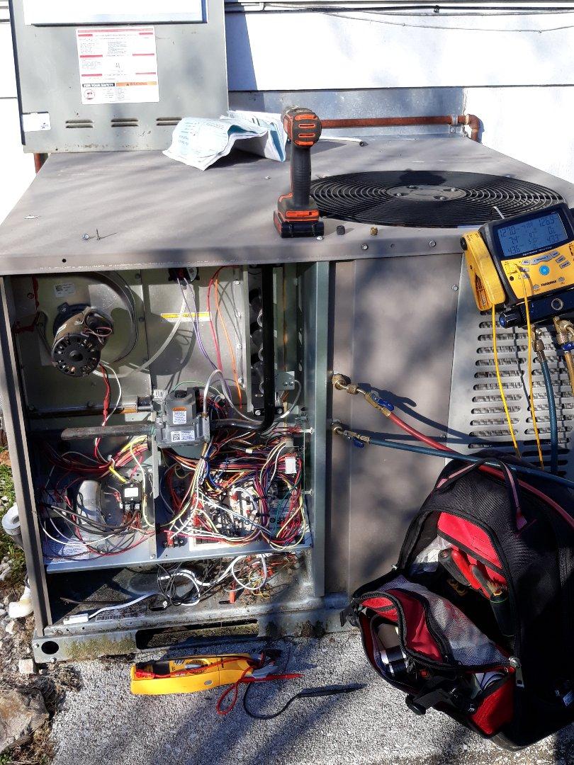 Knoxville, TN - Service call, no heat, Coleman pkg hybrid