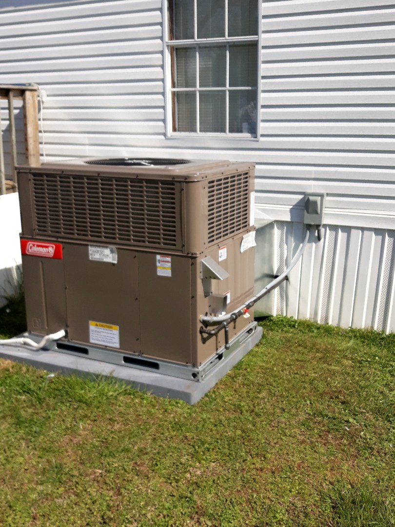 New coleman gas package unit