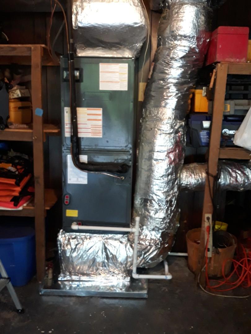Daikin split heat pump install