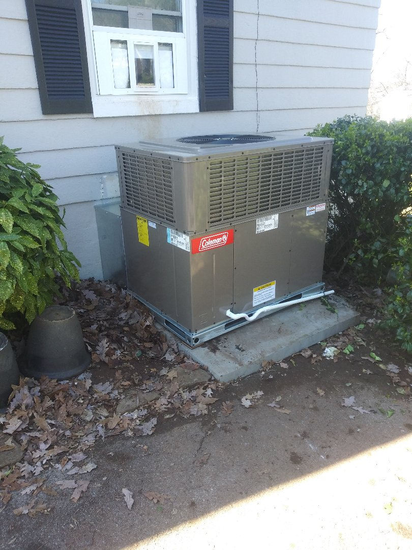 Knoxville, TN - New Coleman package unit install