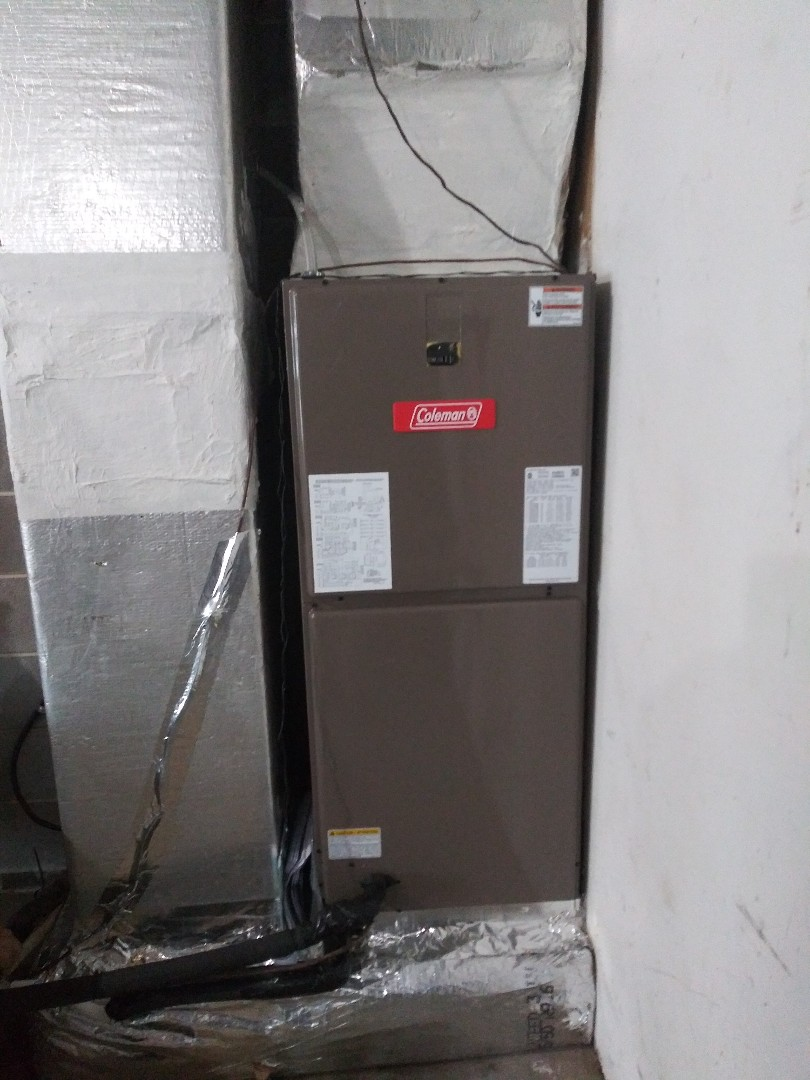 New Coleman heat pump install
