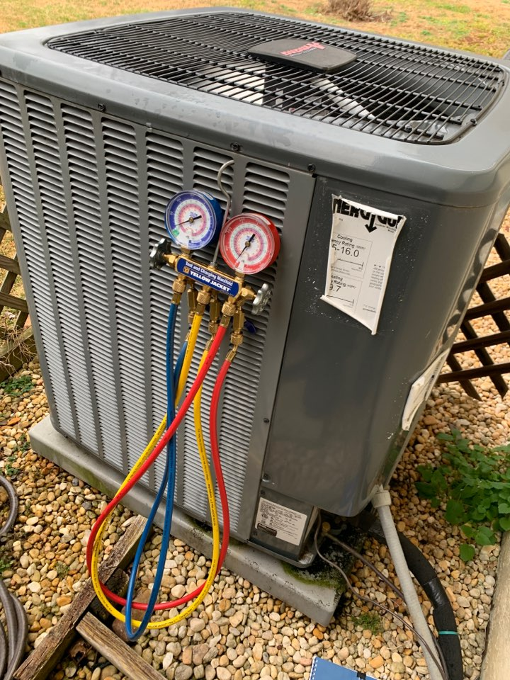 Powell, TN - 1 system fall Maintenance on an Amana split heat pump and electric heat.