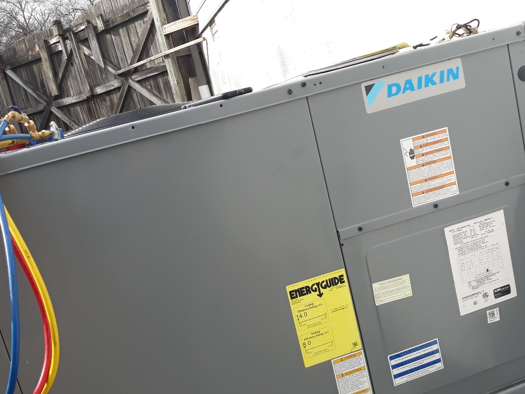 Knoxville, TN - 1 system Fall maintenance on a Daikin heat pump and electric heat package unit.