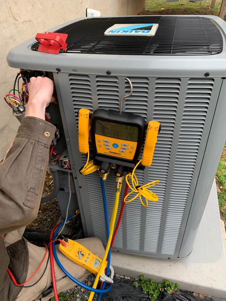 Knoxville, TN - 1 system fall Maintenance on a Daikin heat pump and electric heat.