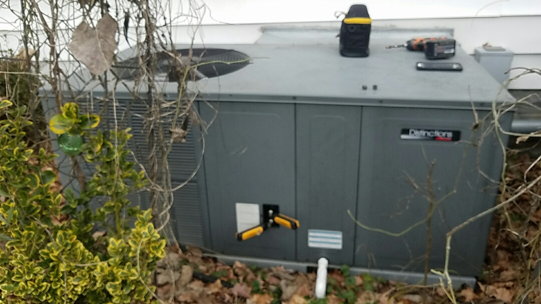 Oak Ridge, TN - Performed a heating inspection on a Amana package heat pump.